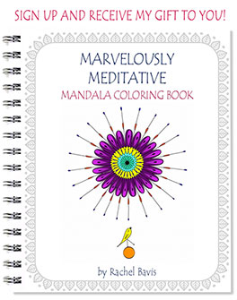 Marvelously Meditative Mandala Coloring Book - by Rachel Bavis